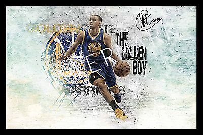 Stephen Curry Signed Autograph A4 Photo Print Poster//Framed or Unframed Availab