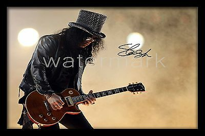 Slash Signed Autograph A4 Photo Print Poster - Framed or Unframed Available