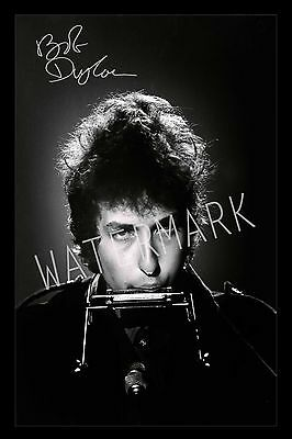 Bob Dylan Signed Autograph A4 Photo Print Poster-Framed or Unframed Available