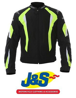 Rst R-16 Textile Motorcycle Jacket Sports Motorbike Sale Rrp £109.99 Flo Yellow