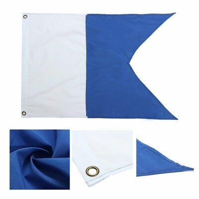350x300mm Dive Boat Flag(Alpha Flag) National Banner With Mental Grommet