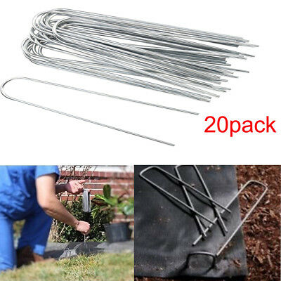 15cm Garden Landscape Pegs Pins Staples Grass Weed Staples Stakes 20pcs/pack