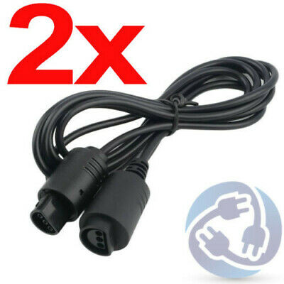 2x Extension Cable Cord Adapter for Nintendo 64 N64 Controller Gamepad 6ft
