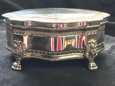 Antique English Regency Style Silver Plate Gadrooned Ladies Jewellery Box