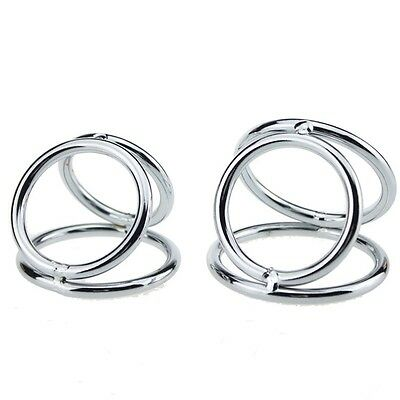 Ball Stretcher !! Penis Ring Cage Solid Steel Chrome Stud Fetish Cbt
