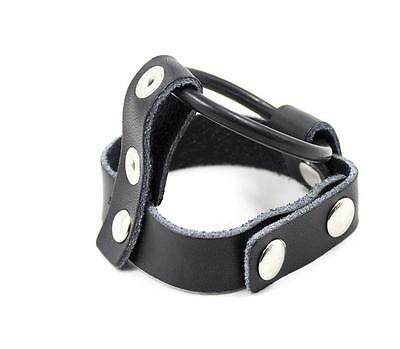 (T) 1 X Rubber Penis Ring With Strap ! Jackstrap Cage Fetish