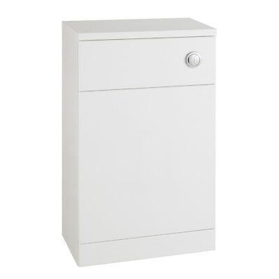 500mm 600mm Classic Back To Wall WC Bathroom Furniture Vanity BTW Unit White