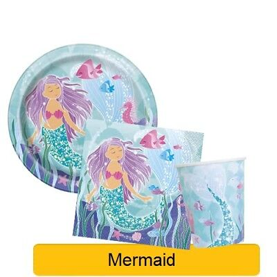MERMAID Bithday Party Range - Tableware Balloons & Decorations {Unique}