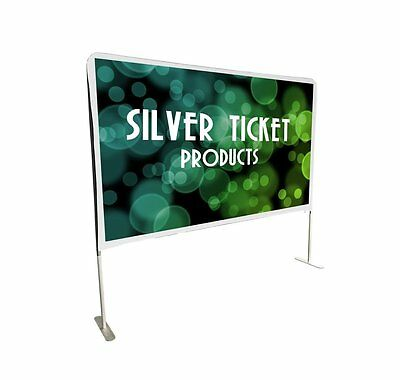 STE-169100 Silver Ticket Entry Level Indoor/Outdoor Movie Projector Screen 100""