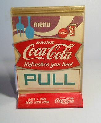 Original Coca  old stock restaurant stickers, menu sheets and table sign