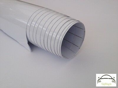 Gloss White/Black Vinyl Wrap Cars Adhesive Decal Film (Bubble Free) In All Sizes