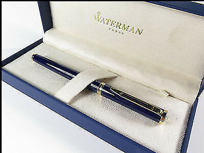 Waterman Preface Royal Blue & Gold Trim Rollerball Pen New In Box *