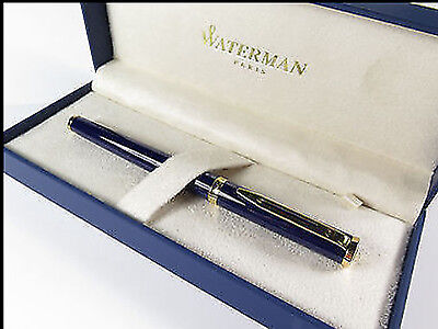 Waterman Preface Royal Blue & Gold Trim Rollerball Pen New In Box
