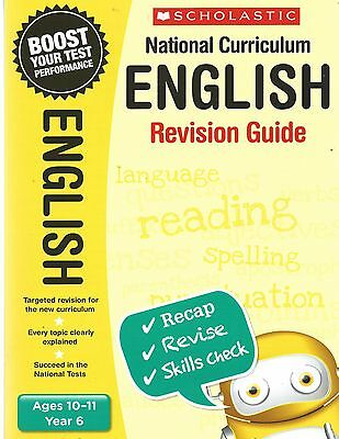 NEW Scholastic ENGLISH 10-11(year 6) KS2 NATIONAL CURRICULUM REVISION GUIDE SATS
