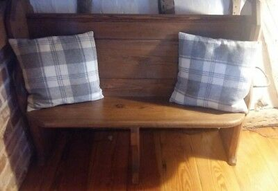 solid pine old church pew good for dinning or hallway bench settle