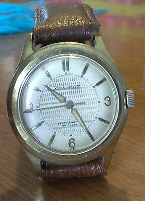 Rare vintage men's WALTHAM 30 jewel automatic wristwatch, AS 1361N runs good, 4D