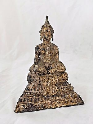 18/19Th Century Thai Gilt Bronze Figure Of Buddah