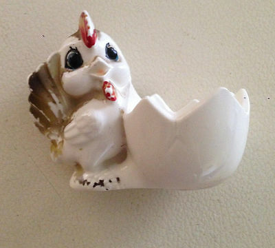 Vintage Chicken and Egg Shell Egg Cup 1950's