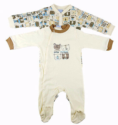 Pack of 2 Baby Boys Little Friends Sleepsuits (Newborn - 9 Months)