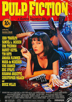 Pulp Fiction Poster Tarantino Movie, Quality Large, FREE P+P - CHOOSE YOUR SIZE!