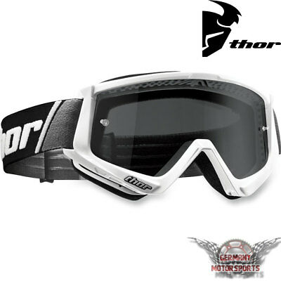Motocross Brille Crossbrille Goggle Thor Combat Sand Weiss Cross Enduro Offroad