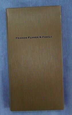 Baekgaard Friends Flames & Family Address Book Unused