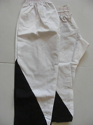 2 x Pairs of Martial Arts Trousers (Size 0 & 2) in Black and White
