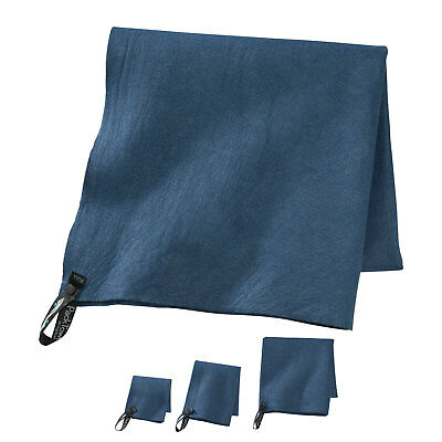 PackTowl Original Travel Backpacking Camping Super Absorbent Blue Towel