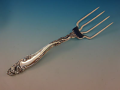 "Decor by Gorham Sterling Silver BBQ Serving Fork 7 3/4"" Custom Made"