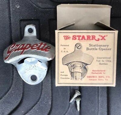 Vintage Starr X Grapette Soda Cola Bottle Opener  Brand New NIB NOS
