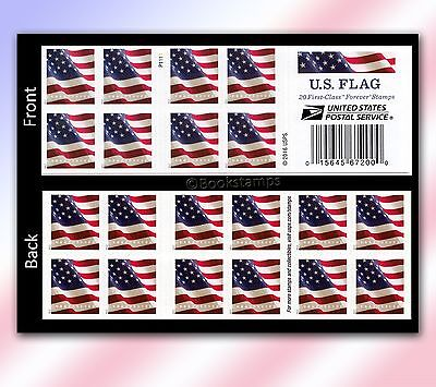 20 Forever Stamps US Postage American Old Glory Flag USPS Booklet Stars  Stripes