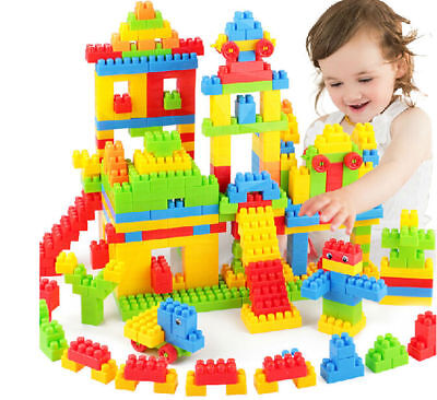 144pcs Colorful Plastic Building Blocks Children Puzzle Educational Toy Gift SA