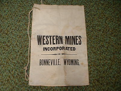 Western Mines Inc. Bonneville Wyoming Mineral Mining Sample Canvas Bag