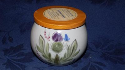 Buchan Pottery Heather-Thistle & Bluebell Pattern-HONEY JAR- Stoneware used