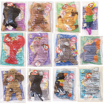 TY McDonald's Teenie Beanies - Complete Bagged Set of 12 (1998) - New in Bags