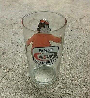 Vintage A&W rootbeer glass tumbler