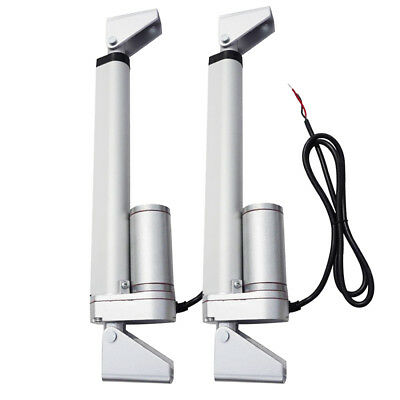 "2pcs 8"" Multi-purpose Linear Actuator Motors W/ Mounting Bracket 330lbs Car Auto"