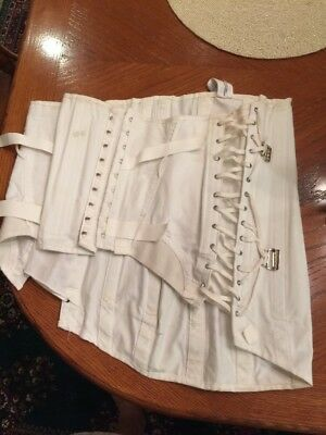 Camp Size 44 White Girdle Corset Back Support Waist Model 9074