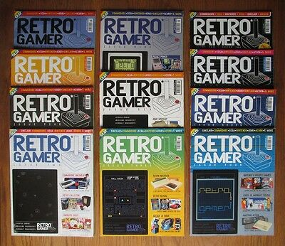Retro Gamer magazine collection set - 11 x early Live issues (2-11 & 14) job lot