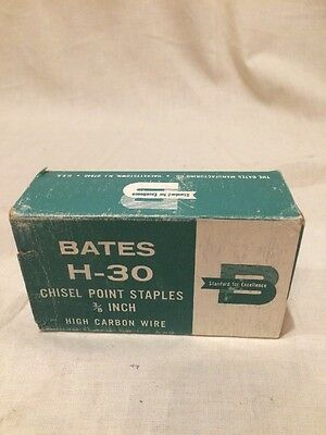"""Bates H-30 Chisel Point Staples 3/8-Inch - High Carbon Wire - Box of 5,000 3/8"""""""