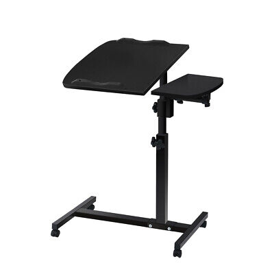 Laptop Desk Mobile Table Black Adjust Rotate 360° Computer Stand Office Student