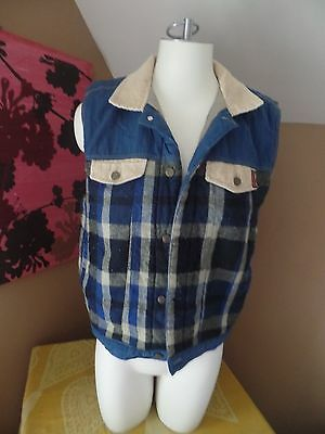 vintage button up vest youth 14/16