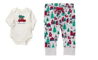NWT Gymboree Holiday Shop My First Christmas Outfit 6-12 Months Baby Boy Girl
