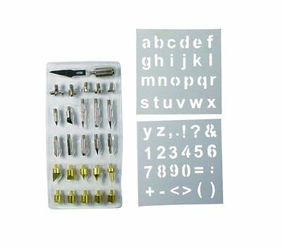 28pc Wood Working & Soldering Tip Set with Stencils