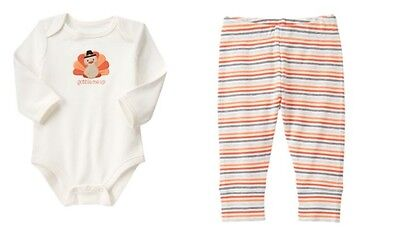 NWT Gymboree Happy Harvest Thanksgiving Turkey Outfit 12-18 Months Baby Boy Girl