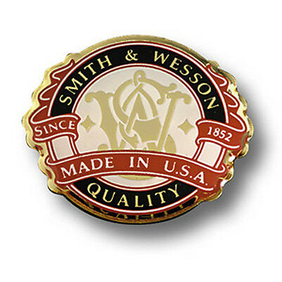 Smith & Wesson Made in USA Lapel Pin S&W Logo Tie Tack Hat Crest Firearms NRA
