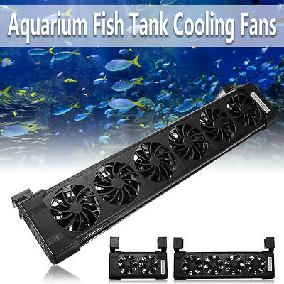 2/ 4/ 6 Heads Aquarium Fish Tank Cooling Fans Tropical Chillers Water Cooler