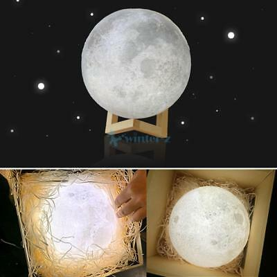 2017 3D Moon Lamp USB LED Night  Moonlight Gift Touch Sensor Color Changing AU