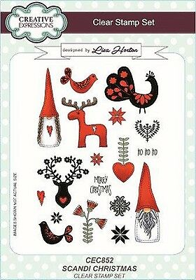 Creative Expressions A5 Clear Stamp Set SCANDI CHRISTMAS CEC852