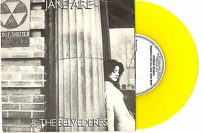 "Jane Aire Belvederes - Yankee Wheels - Rare Yellow 7"" 45 Record Pic Slv 1978"